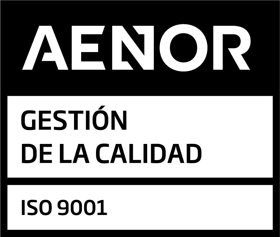 AENOR 9001 Certified - Quality management